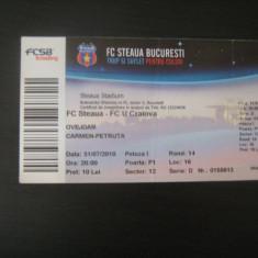 Steaua Bucuresti - Universitatea Craiova (31 iulie 2010) - Program meci
