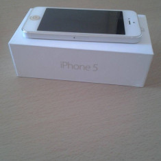 Apple iPhone 5 16 GB UNLOCKED, Alb, Neblocat