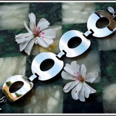 AuX: Draguta BRATARA fashion de dama, confectionata din inox, se afla in stare foarte buna, prezinta marcaj! - Bratara inox, Femei