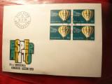 Plic FDC -Congres Esperanto - Baloane -bloc de 4 ,Elvetia