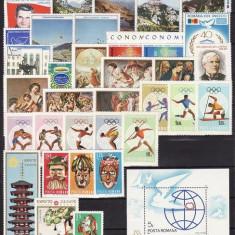 376 - Lot timbre Romania neuzate(39 timbre+1 colita)serii complete,perfecta stare
