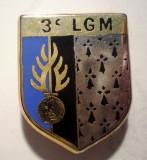 I.653 INSIGNA FRANTA POLITIE ESCADRON 3 LGM LEGION GENDARMERIE MOBILE 24/19mm