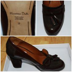 Pantofi dama Massimo Dutti - Pantof dama, Culoare: Bordeaux, Marime: 37, Bordeaux
