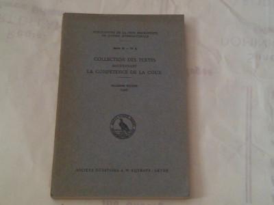 COLLECTION DES TEXTES GOUVERNANT LA COMPETENCE DE LA COUR ~ troisieme edition 1926 ~ foto