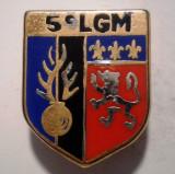 I.655 INSIGNA FRANTA POLITIE ESCADRON 5 LGM LEGION GENDARMERIE MOBILE 24/19mm