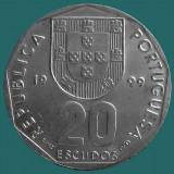 PORTUGALIA KM#634.1 20 Escudos 1999