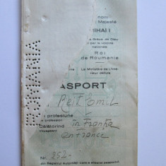 RAR! PASAPORT REGALIST MIHAI I FARA COPERTI DIN 1947 - Pasaport/Document