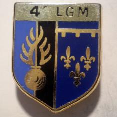 I.654 INSIGNA FRANTA POLITIE ESCADRON 4 LGM LEGION GENDARMERIE MOBILE 24/19mm