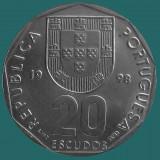 PORTUGALIA KM#634.1 20 Escudos 1998