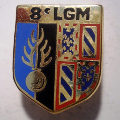 I.658 INSIGNA FRANTA POLITIE ESCADRON 8 LGM LEGION GENDARMERIE MOBILE 24/19mm