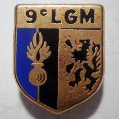 I.659 INSIGNA FRANTA POLITIE ESCADRON 9 LGM LEGION GENDARMERIE MOBILE 24/19mm