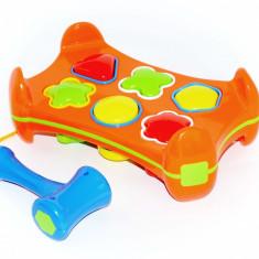 Jucarie creativ-educativa si distractiva cu forme geometrice si ciocanel - Jocuri Forme si culori