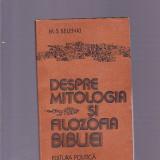 M. S. BELENKI -DESPRE MITOLOGIA SI FILOZOFIA BIBLIEI - Carti Istoria bisericii