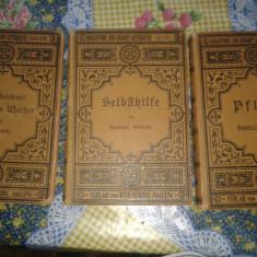 3 carti vechi de colectie scrise in gotica - Carte veche