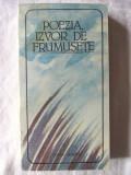 POEZIA, IZVOR DE FRUMUSETE, 1987. Poeti romani de la Dosoftei la Cartarescu.Noua, Alta editura
