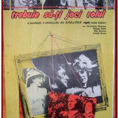 Trebuie sa-ti joci rolul - Afis Romaniafilm film Lily in Love 1985, afise filme Epoca de Aur, cinema, filmele copilariei, Christopher Plummer