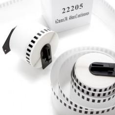 """Etichete Role Benzi Termice Brother DK22205,DK 62mm,DK 2-3/7"""",etichete DYMO etc."""