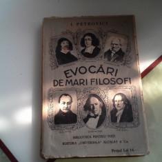 EVOCARI DE MARI FILOSOFI de ION PETROVICI, Alta editura