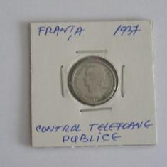 CRJ3 - JETON - CONTROL TELEFOANE PUBLICE - FRANTA - 1937