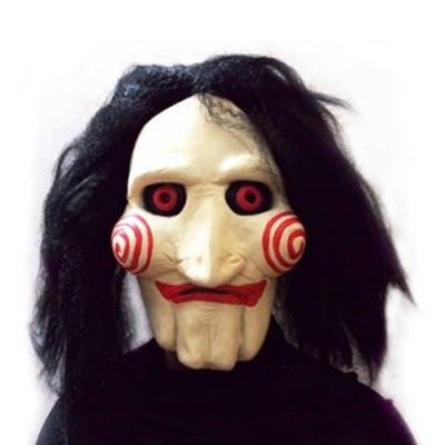 Masca horror Jigsaw Puppet Halloween petrecere tematica costum cosplay +CADOU! foto