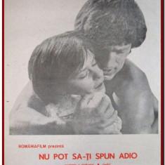 Nu pot sa-ti spun adio - Afis Romaniafilm film sovietic din 1982, afise filme Epoca de Aur, cinema, filmele copilariei