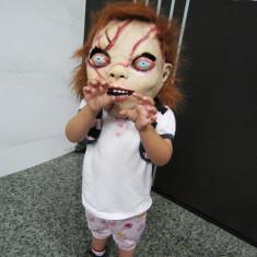 Masca horror papusa CHUCKY costum petrecere Halloween craciun Cosplay +CADOU!, Marime universala, Din imagine