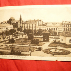 Ilustrata - Braila - Piata Sf. Arhangheli cca. 1920, Ed. Depozit Saraga si Schwartz - Carte Postala Moldova 1904-1918