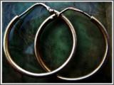 AuX: Pereche de CERCEI vintage circulari confectionati din argint de puritate .925, greutate 2,7 grame!