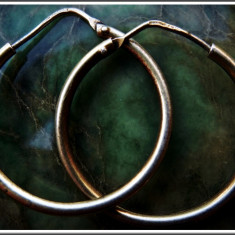 AuX: Pereche de CERCEI vintage circulari confectionati din argint de puritate .925, greutate 2, 7 grame! - Cercei argint