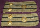 Set efecte militare - 2 epoleti locotenent-colonel RSR, tinuta de vara, insemne AURII serviciul tehnic
