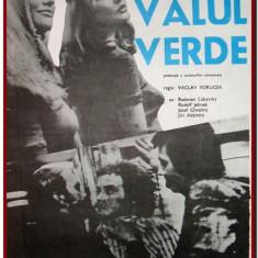 Valul verde - Afis Romaniafilm film cehoslovac din 1982, afise filme Epoca de Aur, cinema, filmele copilariei, regizorul serialului Arabela