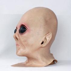 Masca extraterestru Alien Halloween petrecere tematica craciun cosplay +CADOU! - Masca carnaval, Marime: Marime universala, Culoare: Din imagine