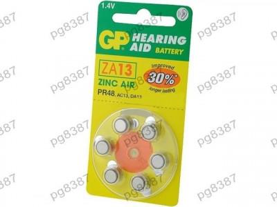 Baterie AC13, R754, zinc-aer (ZnO2), 1,4V, GP, pentru aparate auditive-050420 foto