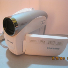 Samsung SC-D382 34X Zoom MiniDV Camcorder White - Camera Video Samsung, 2-3 inch, 30-40x