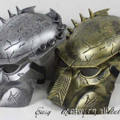 Masca Predator Iron Warrior Halloween costume petrecere tematica cosplay +CADOU - Masca carnaval, Marime: Marime universala, Culoare: Argintiu, Auriu