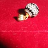 Medalion din aur galben cu zirconiu - Pandantiv aur
