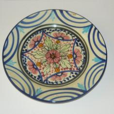 Farfurie pictata - flori - Spania - 20 cm diametru - vintage - 2+1 gratis toate produsele la pret fix - RBK6714