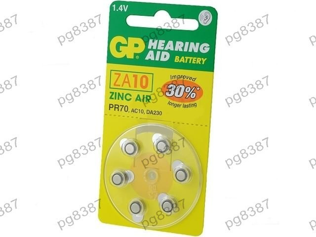 Baterie AC10, R536, zinc-aer (ZnO2), 1,4V, GP, pentru aparate auditive-050419