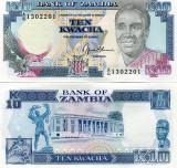 ZAMBIA 10 KWACHA 1989-91 - UNC