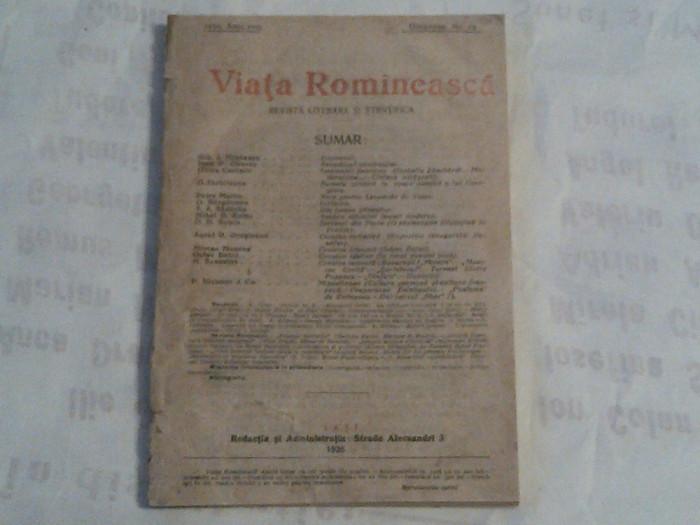 REVISTA VIATA ROMANEASCA ~ REVISTA LITERARA SI STIINTIFICA ~ Nr.12, Decembrie 1926~