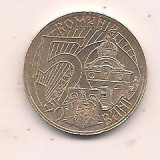 No(2) moneda-ROMANIA- 50 bani 2011-Mircea cel Batran