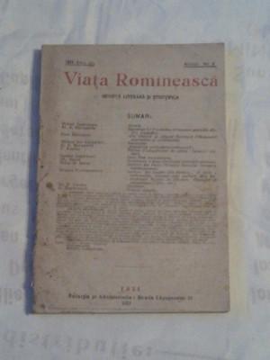 REVISTA VIATA ROMANEASCA ~ REVISTA LITERARA SI STIINTIFICA ~ Nr.8, August 1921 foto