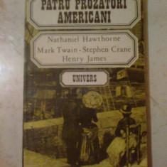g2  Patru prozatori americani - Nathaniel Hawthorne, Mark Twain, Stephen Cran,,,
