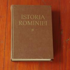 Carte --- Istoria Romîniei ( Romaniei ) - volumul IV - Editura Academiei 1964 - 862 pagini - Istorie