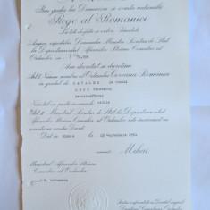 RARITATE!!! BREVET MIHAI I ORDINUL COROANA ROMANIEI IN GRAD DE CAVALER ACORDAT UNUI ANTREPRENOR AL GERMANIEI NAZISTE IN ROMANIA