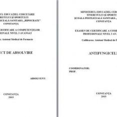 LUCRARE DE LICENTA A.M.F. - ANTIFUNGICELE (CU PREZENTARE POWER POINT)
