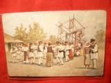 Ilustrata- Sarbatoare la Tara -dupa pictorul Basarab , Ed. E.Marvan