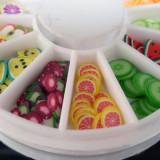 Carusel fimo pentru decoratiuni unghii, nail art, fimo unghii false model cu fructe - Model unghii