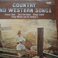 Country and western songs disc vinyl lp johnny cash jerry lee lewis fuzzy walker - Muzica Country, VINIL