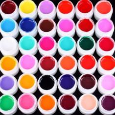 Gel UV set 36 gel uv color geluri colorate 36 bucati se usuca la lampa uv, 5ml (8g) gel pur brand GD COCO calitate garantata!! - Gel unghii